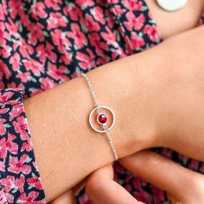 Halo and Birthstone Charm Bracelet