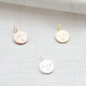 Hope Personalised Charm available in Sterling Silver, Rose Gold Plated Sterling Silver and Gold Plated Sterling Silver