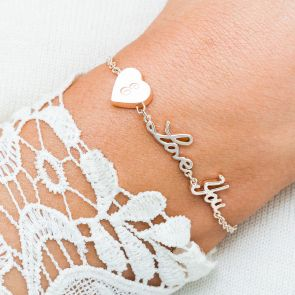 Alexis Personalised Love You Bracelet