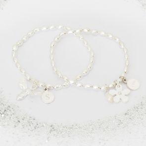 Create Your Own Lila Flower Girl Personalised Bracelet