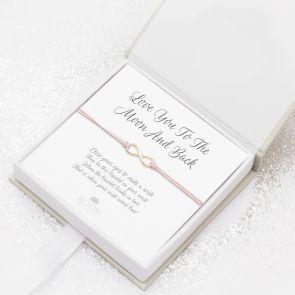 Sterling Silver Wish Charm Personalised Infinity Bracelet