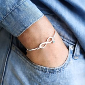 Chiara Birthstone Sterling Silver Infinity Bracelet