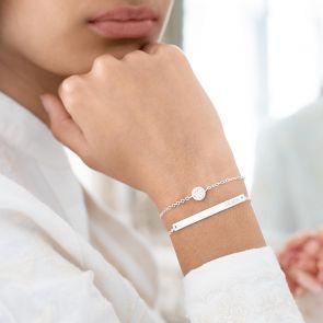 personalised bar bracelet and birthstone bracelet set