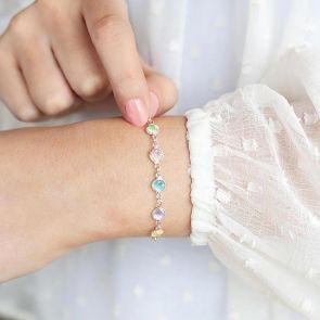 Silver Family Birthstone Custom Bracelet