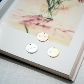 Add a Personalised Name Disc Charm to your Jewellery Purchase