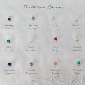 Semi Precious Faceted Birthstone Bead Charm Key