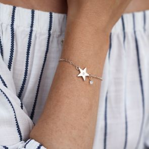 Personalised Star And Birthstone Bracelet