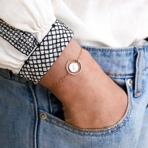 Liliana Personalised Halo Disc Bracelet