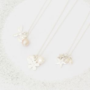 Create Your Own Lila Flower Girl Personalised Necklace