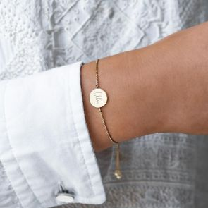 Iona Personalised Disc Slider Bracelet