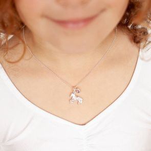 Mini Personalised Sterling Pony Charm Necklace
