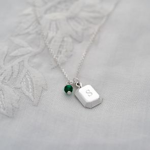 Personalised Sterling Silver Ingot Necklace