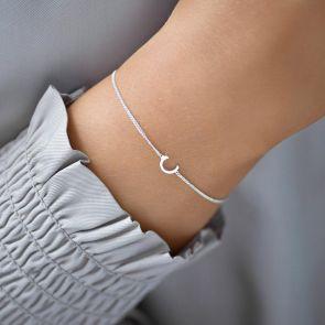 Sterling Silver Letter Charm Bracelet