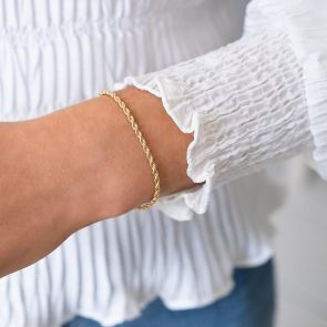 Rope Style Chain Bracelet in Gold