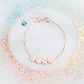 Elisa Initial Disc Personalised Bracelet