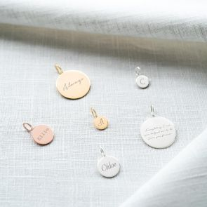Personalise a Sia Disc Charm with a Name, Initial, Date, or Message