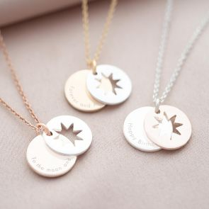 Star Hidden Message Personalised Necklace
