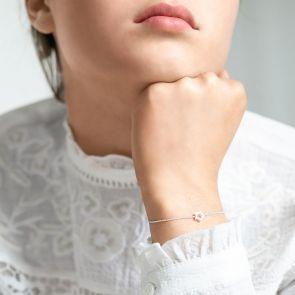 open star bracelet in sterling silver