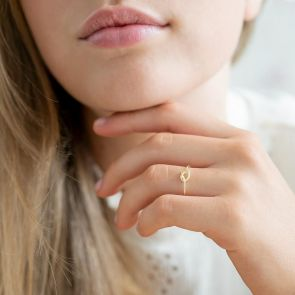 Infinity Knot Ring in Gold Plated Sterling Silver