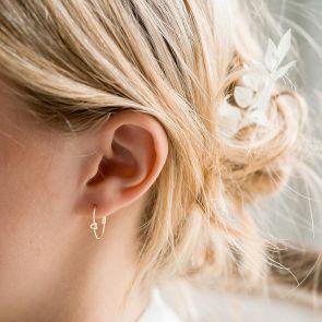 Personalised Knot Earrings