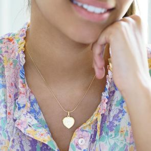 name heart locket necklace available in sterling silver and gold plated sterling silver