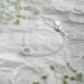 Sterling Silver Russian Rings Personalised Bracelet