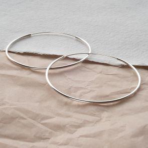 Sterling Silver Hoop Personalised Earrings