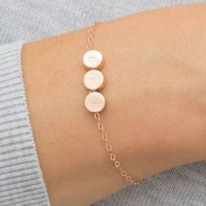 Thea Triple Disc Personalised Bracelet