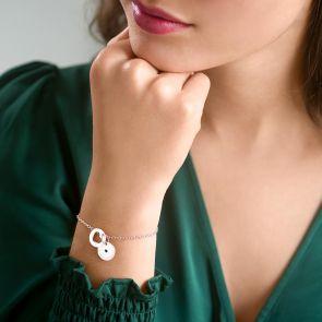 Personalised Secret Message Heart Birthstone Bracelet
