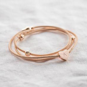 Alessia Heart Charm Personalised Bracelet