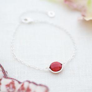Alexia Personalised Semi Precious Birthstone Bracelet