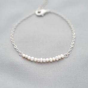Personalised Anja Freshwater Pearl Bridesmaid Bracelet