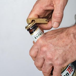 Auric Brass Mens Personalised Bottle Opener