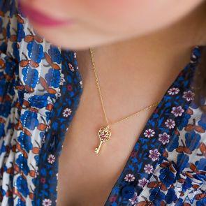 Birthstone Key Personalised Necklace