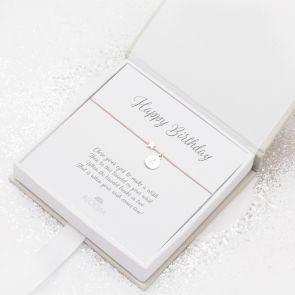 Sterling Silver Wish Charm Star Personalised Bracelet