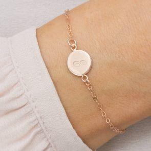 Cara Personalised Initial Disc Friendship Bracelet