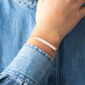 Cherie Illustrated Bar Personalised Bracelet