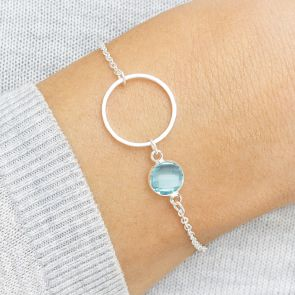 Circle Of Life Personalised Birthstone Bracelet