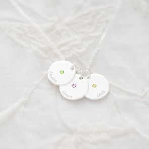 Contemporary Birthstone Personalised Necklace