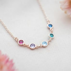 Create Your Own Family Mini Birthstone Necklace