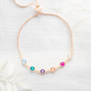 Create Your Own Family Mini Birthstone Personalised Bracelet