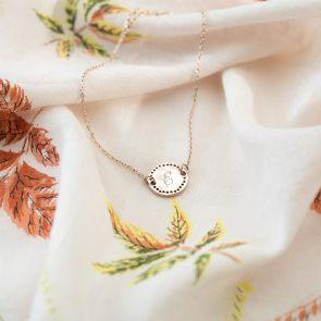 Delicate Initial Disc Personalised Bridesmaid Bracelet