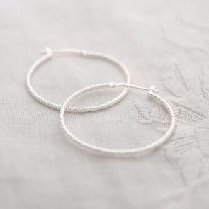 Diamond Cut Hoop Personalised Earrings
