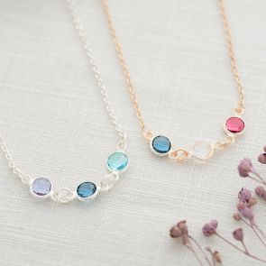 Family Integrated Birthstone Personalised Necklace