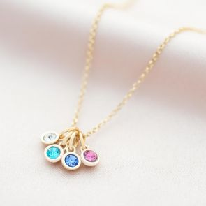 Family Micro Birthstone Personalised Necklace