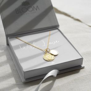 Sterling Silver Roman Coin Personalised Necklace