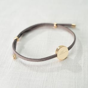 Silana Suede Personalised Friendship Bracelet