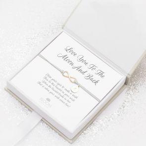 Rose Gold Wish Charm Personalised Infinity Bracelet
