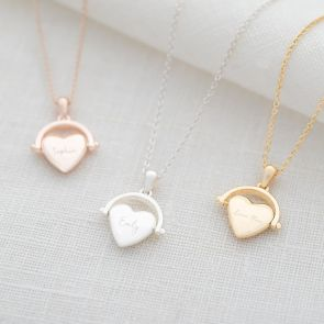 Heart Spinner Personalised Name Necklace