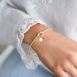 Infinity Knot Personalised Bangle Bracelet